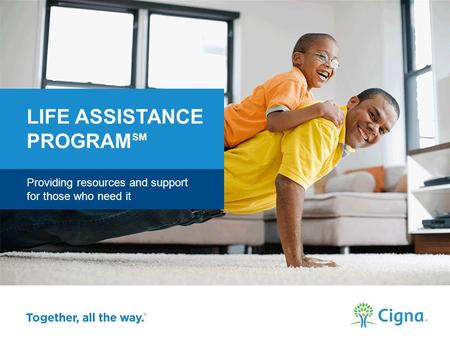 Providing resources and support for those who need it LIFE ASSISTANCE PROGRAM SM Cigna >