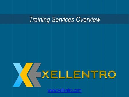Training Services Overview  An emerging global provider of project, program and portfolio management consulting and training services.