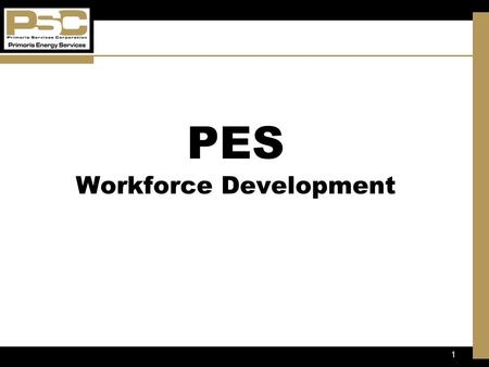1 Objectives PES Workforce Development. 2 MISSION STATEMENT At Primoris Energy Services, we are committed to provide the highest quality pipeline services.