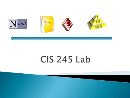  This lab accompanies the software engineering course to support the content in the course. The overall goals of this lab are to introduce examples of.