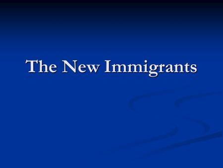 The New Immigrants. Immigration Issues Today Immigration – What it means for your wallet Immigration – What it means for your wallet What are the pro's.