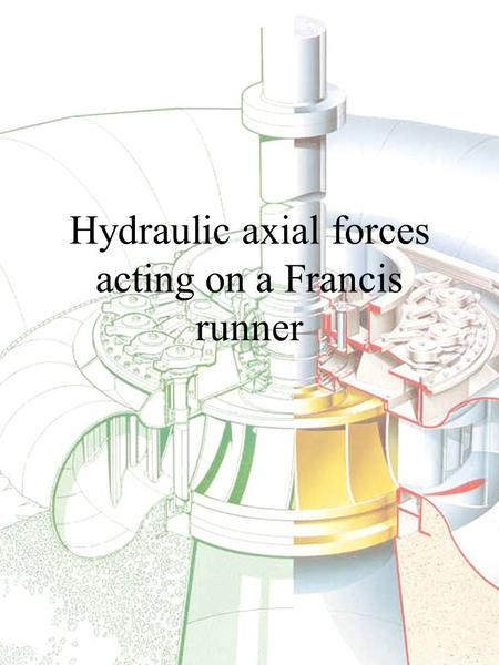 Hydraulic axial forces acting on a Francis runner.