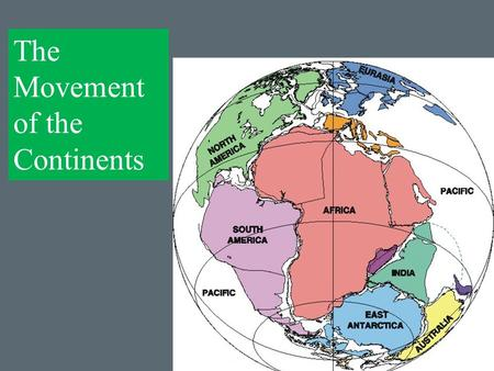 "The Movement of the Continents. Label as ""Plate Tectonics and Continental Drift"" on your notes and record these words in your vocab glossary. Contraction."
