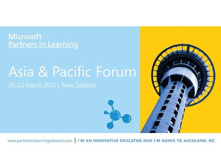 Virtual Classroom Tour - VCT Partners in Learning Global Forum March , 2012 New Zealand.