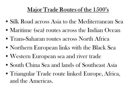 ccot essay trade between africa and Essay on ccot and cc essay ccot essay geo 210 – module 1450 ce trading back and worth happened primarily between europe and north africa trade between.