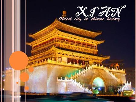 XI'AN Oldest city in chinese history The Xi'an City Wall 西安城墙.