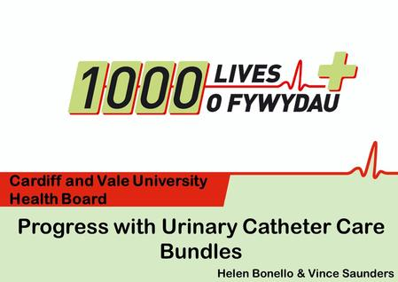 Progress with Urinary Catheter Care Bundles Cardiff and Vale University Health Board Helen Bonello & Vince Saunders.