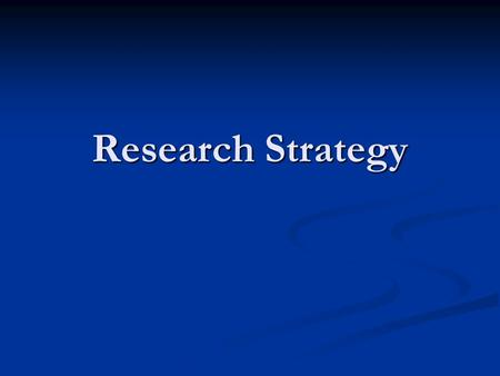 Research Strategy. 2 Research Strategy: Basic Premises The future of Indian agriculture depends on successfully facing the challenges of greater market.