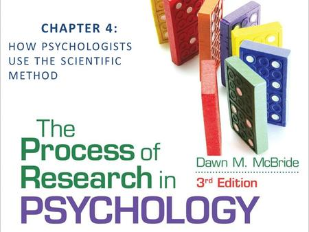 CHAPTER 4: HOW PSYCHOLOGISTS USE THE SCIENTIFIC METHOD.