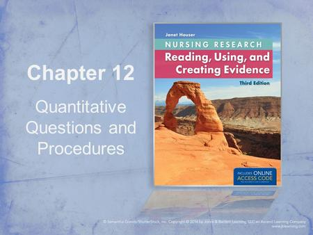 Chapter 12 Quantitative Questions and Procedures.