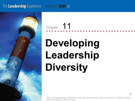 Chapter ©2011 Cengage Learning. All Rights Reserved. May not be scanned, copied or duplicated, or posted to a publicly accessible website, in whole or.