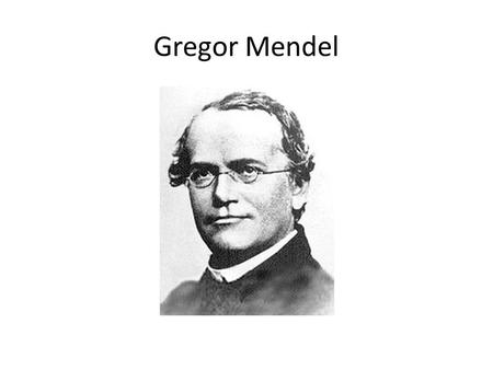 Gregor Mendel. Trait: – A specific characteristic that varies from one individual to another.