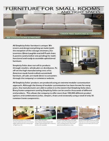 All Simplicity Sofas Furniture Is Unique. We Invent And Design Everything  We Make (with