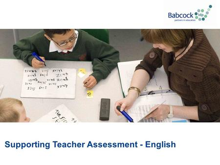 "Supporting Teacher Assessment - English. ""This half-day meeting is part of a package available to purchase through our e-store. The package is designed."