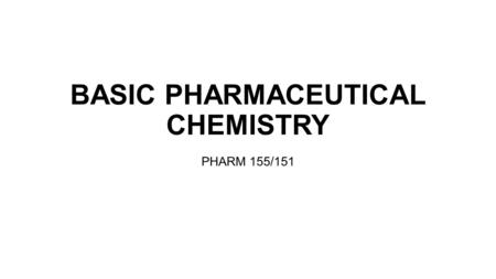 BASIC PHARMACEUTICAL CHEMISTRY PHARM 155/151. CONTENT Equilibria in Electrolytes  Ionization equilibrium constant  Ionic strength  Activity coefficient.