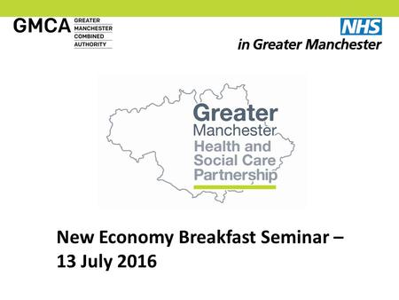 New Economy Breakfast Seminar – 13 July What Has Changed?