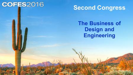 Second Congress The Business of Design and Engineering.