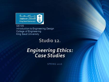Engineering Ethics: Cases