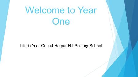 Welcome to Year One Life in Year One at Harpur Hill Primary School.