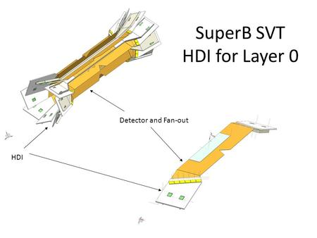 SuperB SVT HDI for Layer 0 HDI Detector and Fan-out.