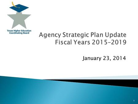 January 23,  Balance state's higher education long range plan and agency operations in the required strategic plan;  Involve agency staff in.