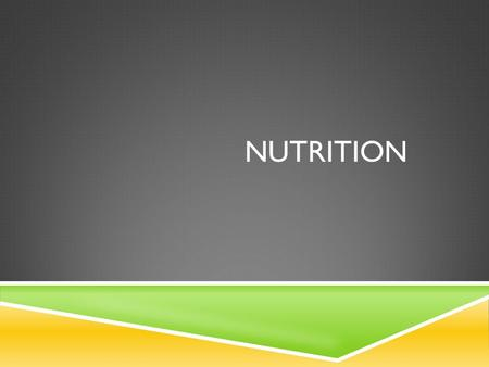 NUTRITION. NUTRIENTS  Water  Carbohydrates  Proteins  Fats  Vitamins  Minerals.
