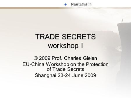 protection of trade secret