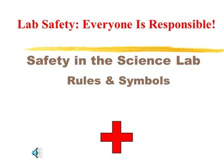 Safety in the Science Lab Rules & Symbols Lab Safety: Everyone Is Responsible!