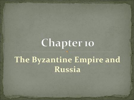 "The Byzantine Empire and Russia. The ""fall"" of the Roman Empire was really only half a fall. Although Germanic tribes defeated the Western Roman Empire."
