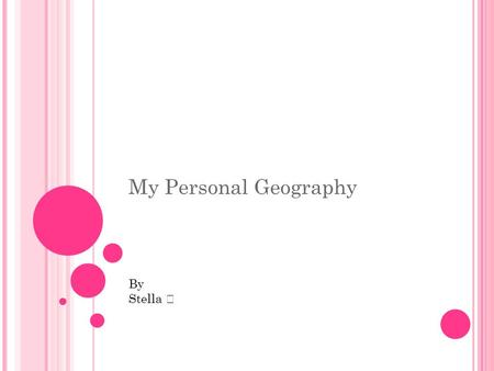 My Personal Geography By Stella. Hello, my name is Shivangi Kachole and I come from India.