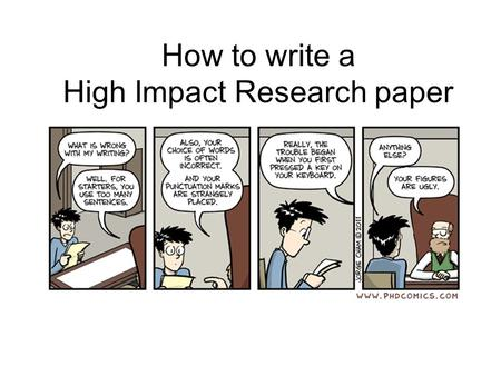 How to publish your research paper