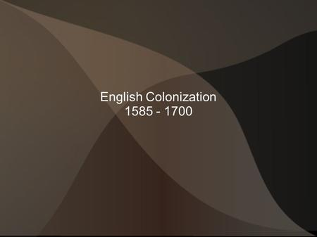 English Colonization The Rise of England Spanish decline  Expensive wars  Spanish Armada English Society  Monarchy v. Parliament  English.
