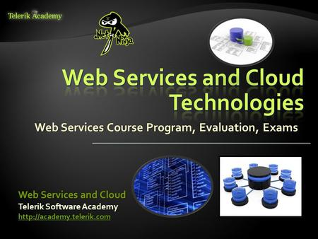 Web Services Course Program, Evaluation, Exams Telerik Software Academy  Web Services and Cloud.