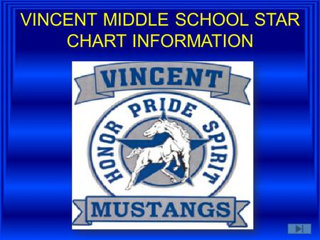 VINCENT MIDDLE SCHOOL STAR CHART INFORMATION OUR ADMINISTRATOR IS KEY TO OUR TECHNOLOGY SUCCESS TEAMWORK IS MR. MAXWELL'S MOTO!!!!!