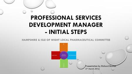 PROFESSIONAL SERVICES DEVELOPMENT MANAGER - INITIAL STEPS HAMPSHIRE & ISLE OF WIGHT LOCAL PHARMACEUTICAL COMMITTEE Presentation by Richard Buxton 3 rd.