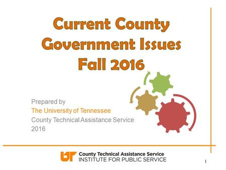 Prepared by The University of Tennessee County Technical Assistance Service