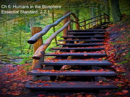 Ch 6: Humans in the Biosphere Essential Standard: