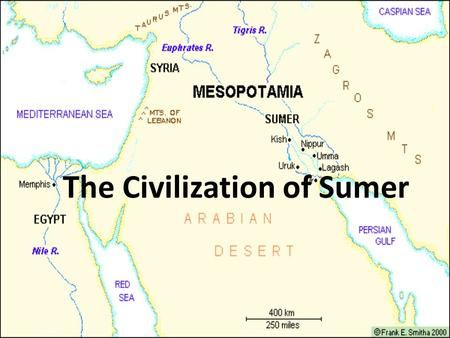 The Civilization of Sumer. Agriculture in Mesopotamia Local people of southern Mesopotamia began to solve the issues of the two rivers with new technologies.