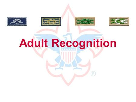 Adult Recognition Thanks to you, our boys... are more confident... are better citizens... learn life skills... have fun! without you, they would not.