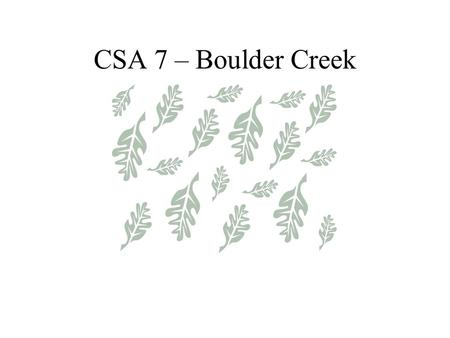 CSA 7 – Boulder Creek. YOUR SANITATION FACILITY Facility Includes the Following Five Pump Stations –Total of 10 pumps 16,553 feet of collection lines.