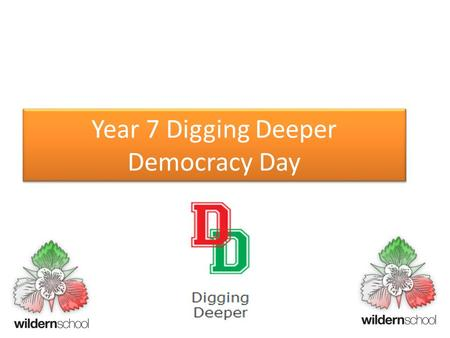 Year 7 Digging Deeper Democracy Day. Have your say! Go to the following website: kahoot.it Then enter the game pin that your teacher gives you. https://play.kahoot.it/#/?quizId=20a53930-