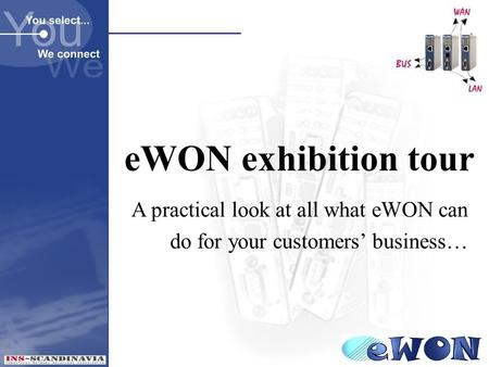 EWON exhibition tour A practical look at all what eWON can do for your customers' business…