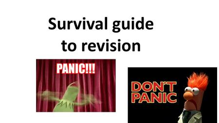 "Survival guide to revision. Negotiated Revision Time Time management As a parent it is essential to have your child ""on board"" The expression win the."