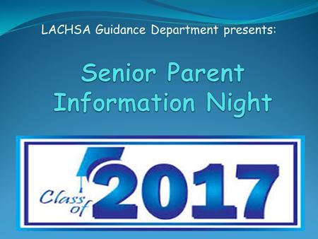 LACHSA Guidance Department presents:. New Website