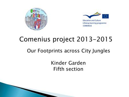 Comenius project Our Footprints across City Jungles Kinder Garden Fifth section.