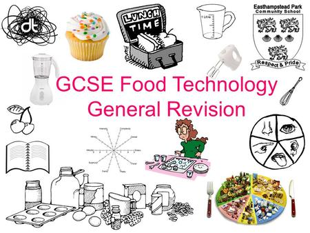 GCSE Food Technology General Revision. The Balance of Good Health is a pictorial representation of the recommended balance of foods in the diet. It applies.