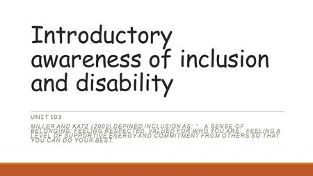 unit 122 introductory awareness of models of disability The two most frequently mentioned are the 'social' and the 'medical' models of  disability the medical model of disability views disability as a 'problem' that  belongs to the    20documents.