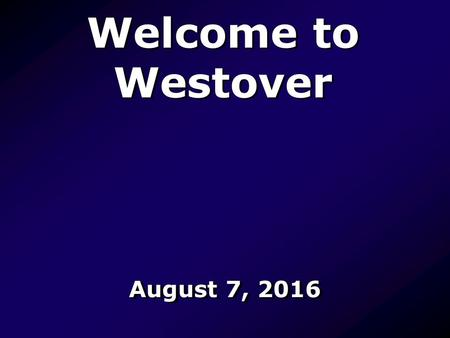 Welcome to Westover August 7, I Know That My Redeemer Lives 528 I know that my Redeemer lives, And ever prays for me; I know eternal life He gives,