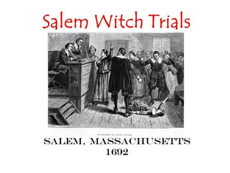 salem witch trial term papers