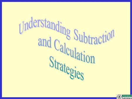 Today we will be learning: to recognise and use patterns in subtraction to use patterns to solve further problems.